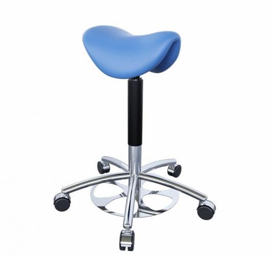 Табурет для врача эргономичный, в форме седла, с ножной регулировкой высоты